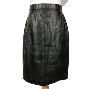 Vintage Pelle Cuir Leather Skirt 8
